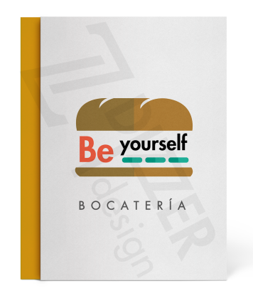 "Isologo ""Be yourself bocatería"""